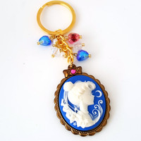 Miniature Kawaii Sailor Moon cameo Keychains - Sailor scout necklace