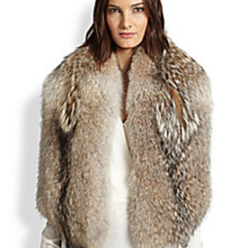 Theory - Coyote Fur Shawl - Saks Fifth Avenue Mobile