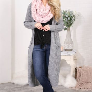 Home Spun Knit Cardigan | Grey