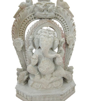 Hindu God Ganesh Statue Spiritual Sculpture 6 Inches Yoga Gift Idea