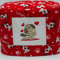 Toaster Cover, Valentine Toaster Cover, Puppy Love, Two Slice Toaster Cover