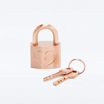 Lovers Lock Padlock - Urban Outfitters