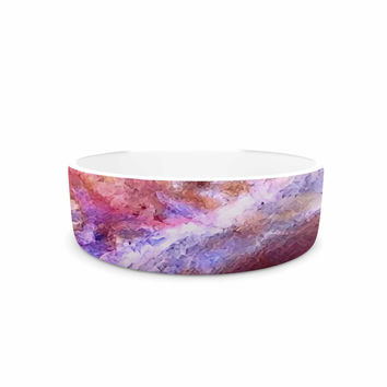 "Malia Shields ""Universe Series #3"" Pink Multicolor Pet Bowl"