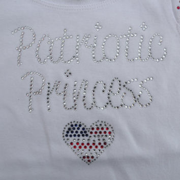 Patriotic Fourth of July Rhinestone Shirt by beBOWutiful on Etsy