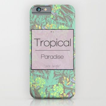 Tropical Paradise: Jade Jungle iPhone & iPod Case by Ben Geiger