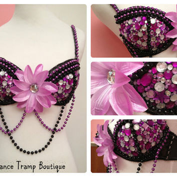 Purple Bling Rave Bra