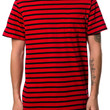 The Charter Stripe SS Shirt in Red and Black