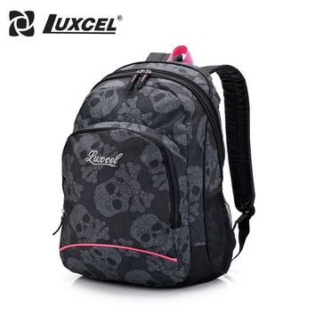 Luxcel Skull Artwork Fashion Casual backpack for women vintage backpack children backp
