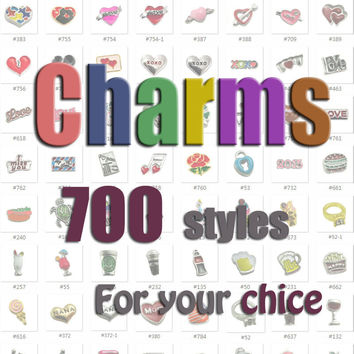 More than 700 designs Floating locket charms alloy floating charms  initial letter charms
