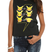 Pokemon Pikachu Electric Emotions Girls Muscle Top
