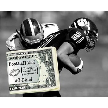 Football Dad Personalized Money Clip