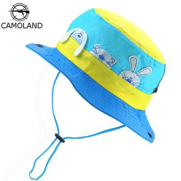 Sun Hat Kids Bucket Hat Quick Dry Summer Fishing Cartoon Cap Boy Girl Panama Children Hat Animal Beach hat Outdoor Fisherman