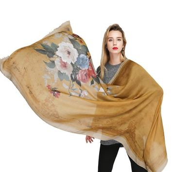 2018 Plain Embroidered Floral Viscose Scarf Shawl From Indian Bandana Printe Cotton Scarves and Wraps Foulard Sjaal Muslim Hijab