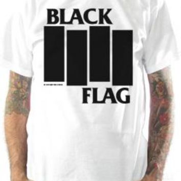 Black Flag T-Shirt - Bars & Logo