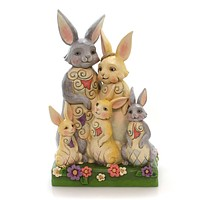 Jim Shore HARES TO FAMILY Polyresin Easter Bunny Family 6001076
