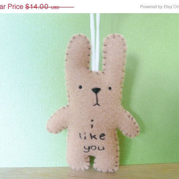 Christmas in July 20% OFF Bunny ornament plush, handmade Christmas ornaments