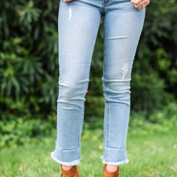 Easy Street Cuffed Bottom Jean
