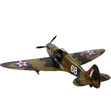 Large Scale Full-Iron Handmade Model Plane - Military US WWII Curtiss P-40 Warhawk - 🎖️🇺🇸🦅✈️💣