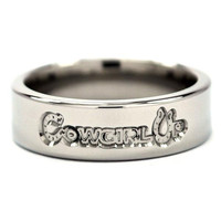 "New 6mm ""Cowgirl Up"" Titanium Ring"