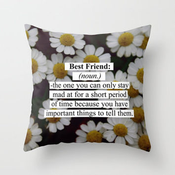 Best Friend: Throw Pillow by Sara Eshak