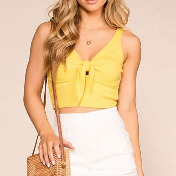 A Little Sunshine Yellow Crop Top