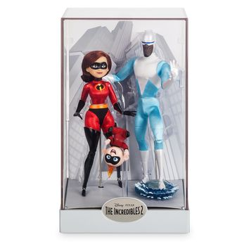 Disney Elastigirl Jack-Jack and Frozone Doll Set Designer Pixar Limited Edition