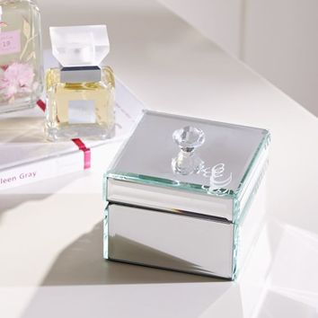 Mirrored Small Jewelry Box