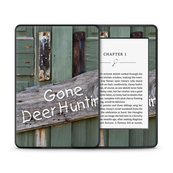 Gone Deer Hunting Sign Skin for the Amazon Kindle Tablet