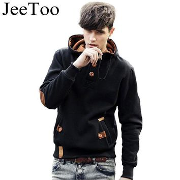 JeeToo Men Hoodies 2017 Casual Hoodies Men Fleece Fashion Hip Hop Warm Hoody Polo Mens