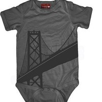 Small Plum Bridge - Organic Onesuit - Slate