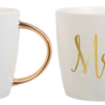 Ceramic Mug Mr & Mrs Set By Slant Collection