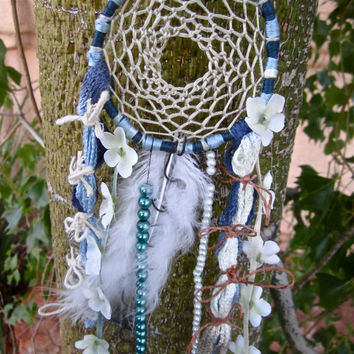 Mini Dream Catcher for the Rear View Mirror by FromAshsToDreams