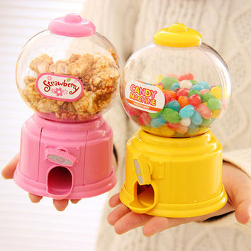 DIY Baby Candy Favors Sweet Candy Machine Colorful Piggy Bank Saving Coin Box for Kitchen Baking Decoration Children Gifts