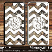 Camo White Chevron Monogram iPhone 5C 6S Plus Tough Case 5s 4 Rustic Wedding Gift Custom Cover Zig Zag Personalized Country Inspired