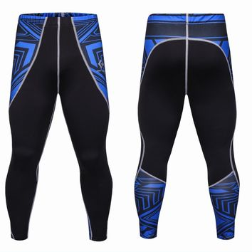 Mens Compression Pants Jogger Fitness Excercise Bodybuilding Compression Tights Long trousers Pants