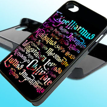 Harry Potter Black Magic Spells for iPhone 4/4s Case - iPhone 5 Case - Samsung S3 - Samsung S4 - Black - White (Option Please)
