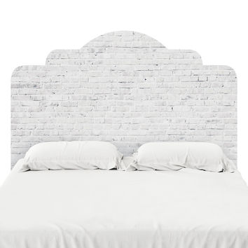 White Washed Brick Headboard Decal