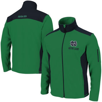 Notre Dame Fighting Irish Halfpipe Jacket – Kelly Green/Navy Blue