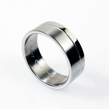 Ready to ship size 9.25, Men's titanium wedding band, Men modern ring, Titanium ring men, Titanium band, unique, commitment, Promise