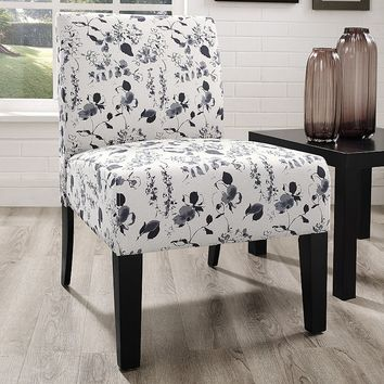 Jane Floral Accent Chair (Blue)