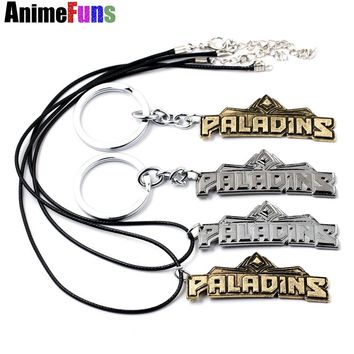 Game Paladins  Keychain Letter Logo High Quality Pendant Metal Keyring For Men And Women necklace jewelry