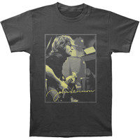 Beatles Men's  John Lennon Studio Slim Fit T-shirt Charcoal Rockabilia