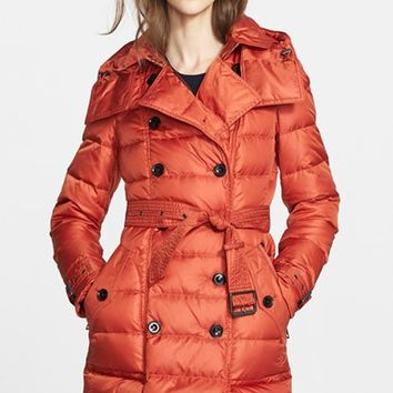 Women's Burberry Brit 'Shoredale' Down Puffer Coat
