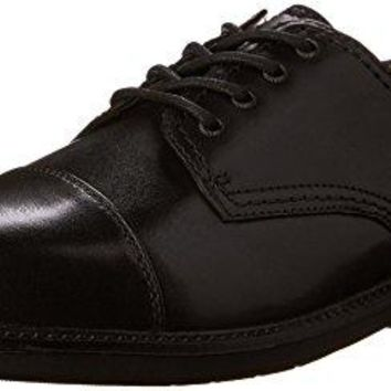 Dockers Men's Gordon Cap Toe Oxford,Black,14 W US