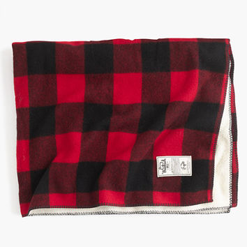 J.Crew Womens Woolrich John Rich & Bros. Sherpa Rough Rider Blanket
