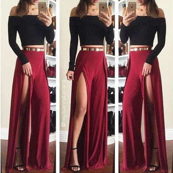 Winter Hot Sale Long Sleeve Pants Women's Fashion Set [4956144196]