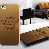 PCFH024 jet lag life Mickey Hand Gold - Custom Design For iPhone 5 Plastic And iPhone 4 / 4S Case Cover - Black / White Cases