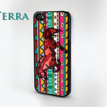 iPhone 4, - iPhone 4s -  iphone 5 cases - COLORFUL HORSE DESIGN