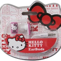 Hello Kitty Earbuds - White/Pink (11409-HK)