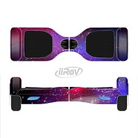 The Vivid Pink Galaxy Lights Full-Body Skin Set for the Smart Drifting SuperCharged iiRov HoverBoard